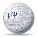 Ball and programming php Stock Photo