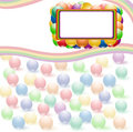 Ball rainbow background Royalty Free Stock Photo