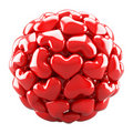 Ball from red hearts Royalty Free Stock Photography