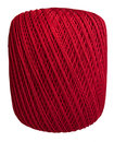 Ball of Red Thread Isolated Royalty Free Stock Photo
