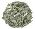 Ball shape assembled of US dollar bundles Stock Photo