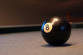 Ball 8 of snooker pool table game Royalty Free Stock Photo