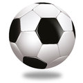 Ball soccerball with shadow on white background Stock Photos