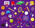 Ball sports a variety of Royalty Free Stock Image