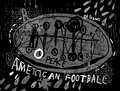Ball symbolic image of the for the game of football Royalty Free Stock Photo