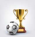 Ball and trophy Royalty Free Stock Image