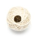Ball of twine on white Stock Photography