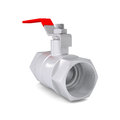 Ball valve isolated render on a white background Stock Photography
