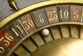 Ball vintage roulette numbers Royalty Free Stock Image