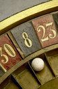 Ball vintage roulette numbers Stock Photo