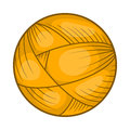 Ball of wool yarn for knitting icon, cartoon style