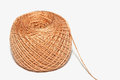 A ball of yarn brown thread isolated on white background Stock Images