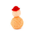 Ball of yarn. have a hat. Stock Image