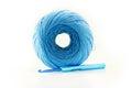 Ball of yarn and knitting Royalty Free Stock Photo