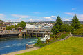Ballard locks in seattle usa – june on june connect the waters of puget sound with freshwater of lake union and Stock Photo