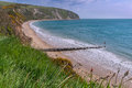 Ballard point swanage in dorset Royalty Free Stock Images
