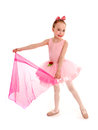 Ballerina child in pink tutu four year old ballet dancer performance costume Royalty Free Stock Photography
