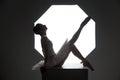Ballerina on the cube