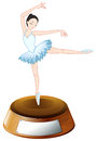 A ballerina dancer above the empty label Royalty Free Stock Photo