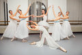 Ballerina dancers pose for recital photo beautiful Royalty Free Stock Photography
