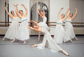 Ballerina dancers pose for recital photo beautiful Royalty Free Stock Photo