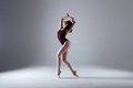 Ballerina dancing in the darkness Royalty Free Stock Photo
