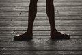 Ballerina dancing feet Royalty Free Stock Photo