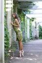 Ballerina is dancing outdor Stock Photos