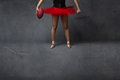 Ballerina or football player close up Royalty Free Stock Photo