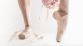 Ballerina getting ready Royalty Free Stock Photography