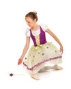 Ballerina Girl in Recital Costume Royalty Free Stock Photography