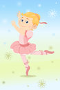 Ballerina girl a vector illustration of a beautiful dressed as a Stock Image
