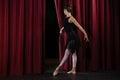 Ballerina performing ballet dance on stage