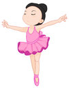 Ballerina pose on white illustration of a Royalty Free Stock Images
