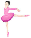 Ballerina pose on white illustration of a Stock Images