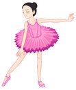 Ballerina pose on white illustration of a Stock Image