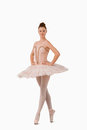 Ballerina standing on her tiptoes Stock Photography
