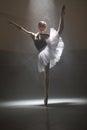 Ballerina in the white tutu