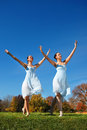 Ballerinas Dancing Stock Photo
