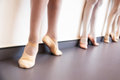 Ballerinas feet posture at a class Royalty Free Stock Photos