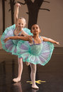 Ballerinas Pose Together Royalty Free Stock Photo