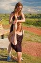 Ballerinas stretching Royalty Free Stock Photo