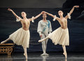 Ballet actor in december ukraine kiev base at the bolshoi in jiangxi nanchang perform to classical repertoire of swan lake Stock Photo