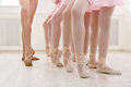 Ballet background, young ballerinas training Royalty Free Stock Photo
