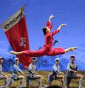 Ballet chinese detachment red women Стоковая Фотография RF