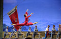 Ballet chinese detachment red women Arkivfoto