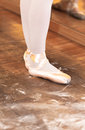 Ballet dancer close up of a performing exercises Royalty Free Stock Images