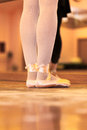 Ballet dancer close up of a performing exercises Royalty Free Stock Photo