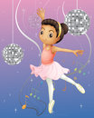 A ballet dancer with disco lights illustration of Stock Photography