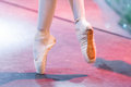 Ballet dancer feet Royalty Free Stock Photo
